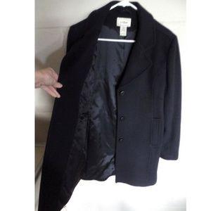 L.L. Bean Jackets & Coats - L.L. BEAN Navy Italian Wool Thinsulate Polo Coat